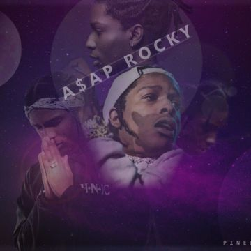 asap rocky swaggy purple asap ferg hip hop rapper abstract wallpaper - Android / iPhone HD Wallpaper Background Download