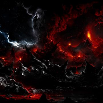 Volcanic lightning - Android, iPhone, Desktop HD Backgrounds / Wallpapers (1080p, 4k)
