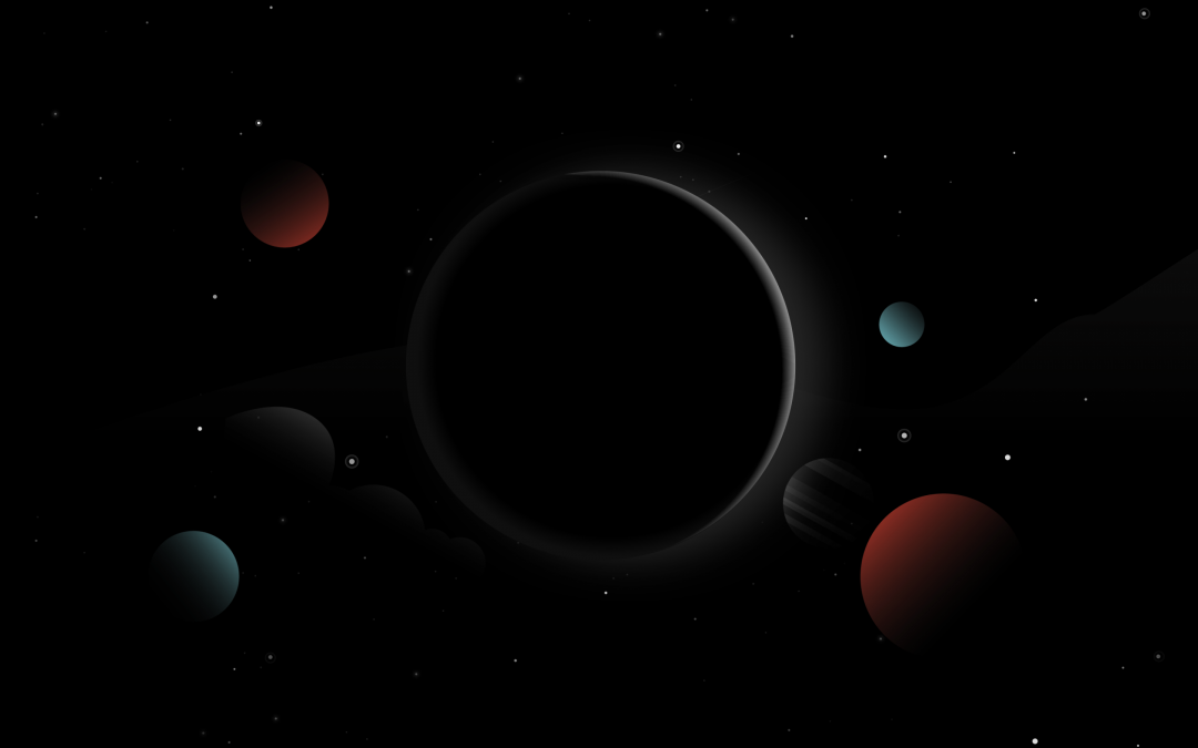 Wallpaper Planets, Moon, Sun, Dark, Stars, HD, Minimal - Android / iPhone HD Wallpaper Background Download (978498) - Space