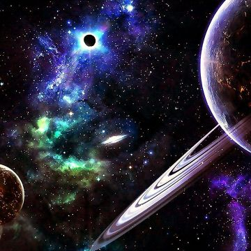 Planets In The Universe Wallpaper. Wallpaper Studio 10 - Android / iPhone HD Wallpaper Background Download