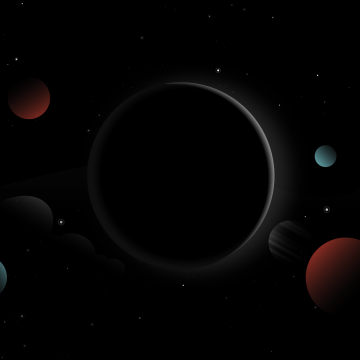 Wallpaper Planets, Moon, Sun, Dark, Stars, HD, Minimal - Android / iPhone HD Wallpaper Background Download