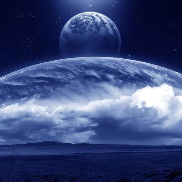 Night Field With Huge Planets Wallpaper. Wallpaper Studio 10. Tens - Android / iPhone HD Wallpaper Background Download