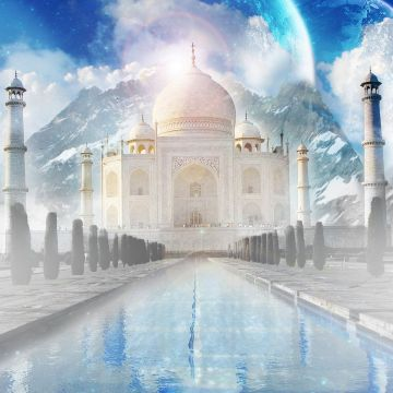 The Taj Mahal Wallpaper India World Wallpaper in jpg format - Android / iPhone HD Wallpaper Background Download